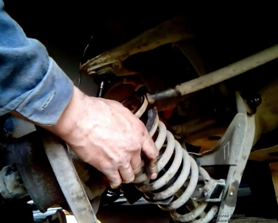 Как заменить передние пружины на ваз 2107 своими руками
