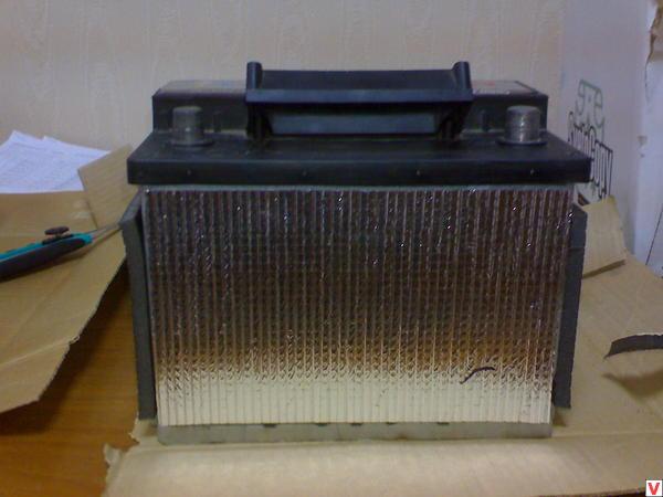 Утепление аккумуляторной батареи