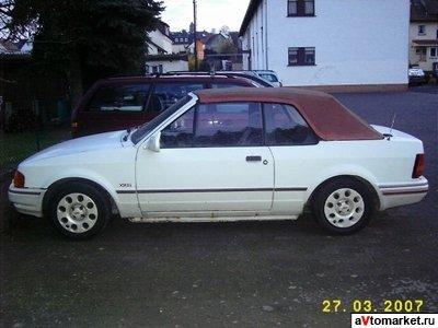 ford escort 1986 кабриолет
