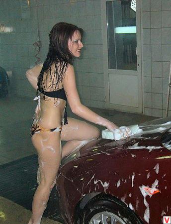девушка модель работы автомойки