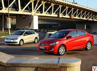 vw polo sedan vs hyundai solaris